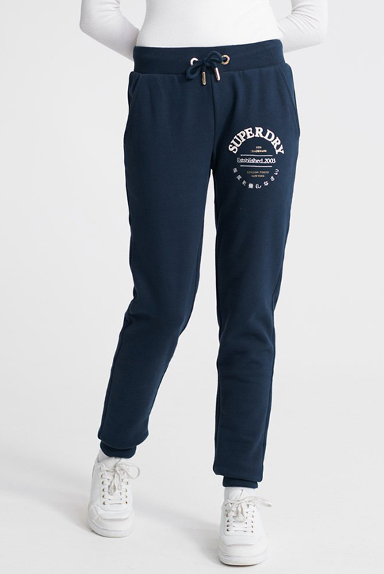 New Womens Superdry Factory Second Semester Joggers Light Grey